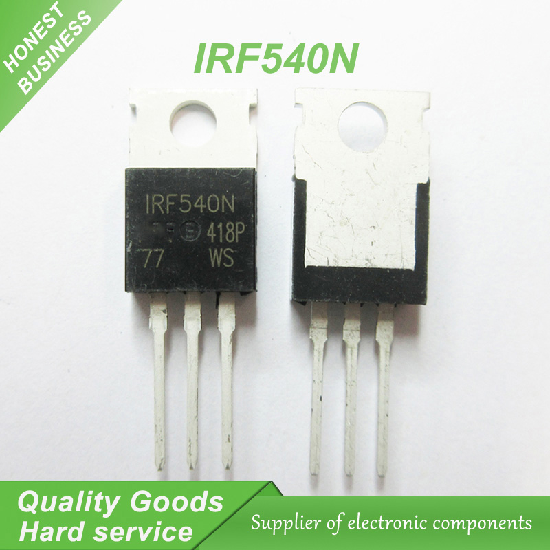20 adet IRF540N IRF540 IRF540NPBF MOSFET MOSFT 100 V 33A 44 mOhm 47.3nC TO-220 yeni orijinal