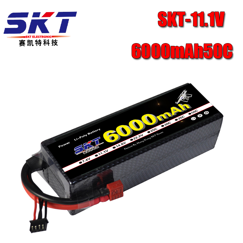 SKT Lipo RC Pil 3 S 11.1 V 6000 mah 50C-100C Hard Case için RC Araba Tekne Helikopter Quadcpter
